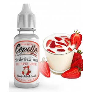 Ароматизатор Capella - Strawberries and Cream (Клубника со Сливками)