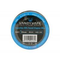 Проволока Vandy Vape Superfine MTL Fused Clapton Wire (Kantal, 32ga*2(=)+38ga)